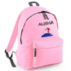 Personalised GYMNAST Gymnastics Rucksack Backpack Bag (BG125)